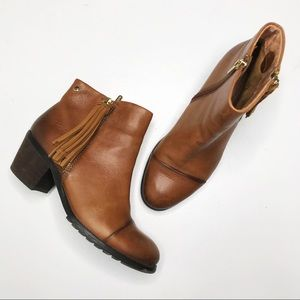 Pikolinos Andorra Cognac Leather Ankle Boots 37